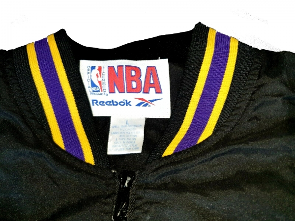 ReebokLos Angeles Lakers L.A LA jacket NBA black 1/4 zipper zip sweatshirt men's L