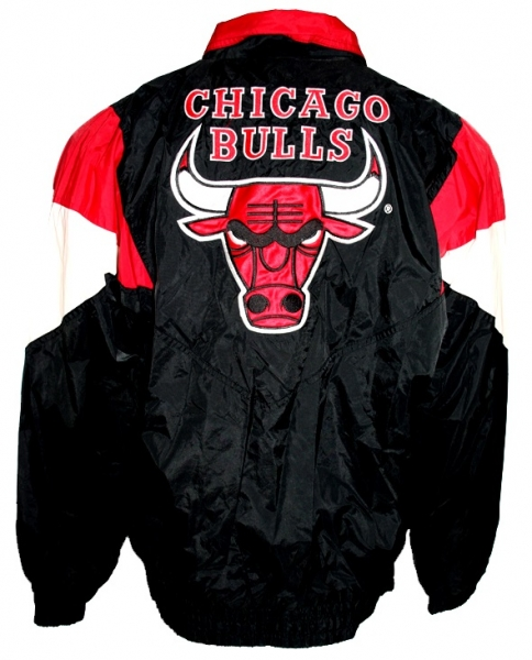 Starter Chicago Bulls jacket NBA Basketball black red men's XL