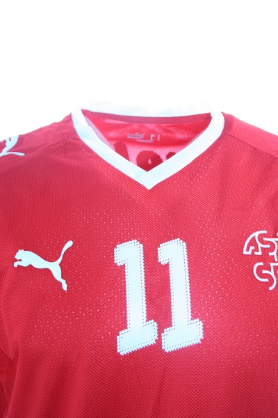 Puma Switzerland jersey 11 Marco Streller Euro 2008 home red SFV ASF men's M or L
