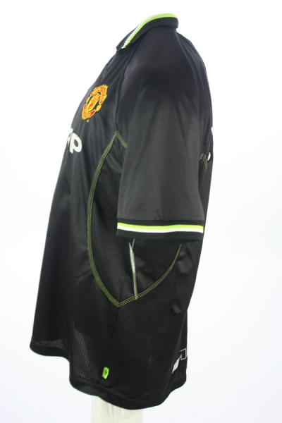 Umbro Manchester United jersey 7 David Beckham 1998/99 Sharp away black men's L/XL