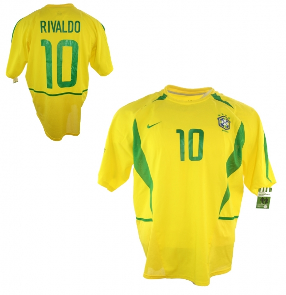 Nike Brazil jersey 10 Rivaldo world cup 2002 home men's XL