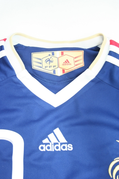 Adidas France Jersey 10 Zinedine Zidane World cup 2010 home blue men's S