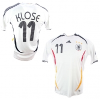 Adidas Germany jersey 11 Miroslav Klose World Cup 2006 Home DfB white men's 176cm=S-M or L