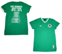 Adidas Germany World Cup T-shirt shirt jersey 1974 Gerd Müller green men's S
