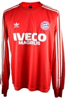 Adidas FC Bayern Munich jersey 1980/82 Iveco Magirus red longsleeve men's M