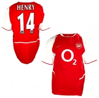 Nike FC Arsenal jersey 14 Thierry Henry 2003/04 home Unbeaten men's M/L/XL/XXL