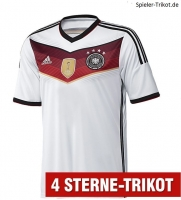 Adidas Germany jersey world champion 2014 World Cup 4 stars home shirt in white men's 176cm = S-M  or XL