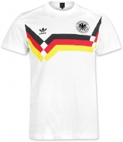 Adidas Germany DfB T-shirt jersey 1990 white men's S or M