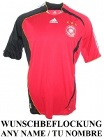 Adidas Germany jersey World Cup 2006 11 Klose 20 Podolski 19 Schneider DFB red men's S/M/L/XL/XXL