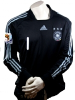 Adidas Germany goalkeeper jersey 1 Robert Enke + Patch World Cup black 2010 men's S-M