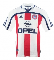 Adidas FC Bayern Munich jersey 2000/01 CL winner Away Opel white red men's S, M or XL