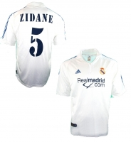 Adidas Real Madrid jersey 5 Zinedine Zidane 2001/02 home white men's 2XL/XXL