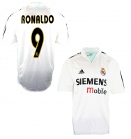 "Adidas Real Madrid jersey 9 Ronaldo ""el fenomene"" 2004/05 men's M or XL"