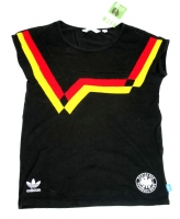 Adidas Germany T-shirt DFB 90 1990 black jersey women 38 S/M