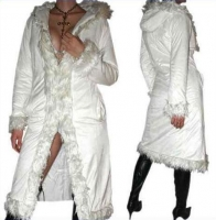 Women winter coat white sexy 36 / 38 / 40