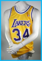 Champion L.A. Lakers jersey 34 Shaq O'Neal Los Angelas Yellow NBA men's M or L