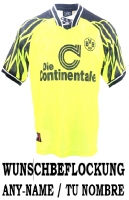 Nike Borussia Dortmund jersey 1994/95 continentale home BVB men's S M or XL
