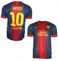 Nike FC Barcelona jersey 10 Lionel Messi 2012/13 Qatar home men's S/M/XL