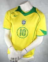 Nike Brazil jersey 10 Ronaldinho 2004/06 home yellow men's S, L o XL