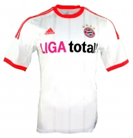 Adidas FC Bayern Munich Jersey 2012/13 away white orange men's S or XL