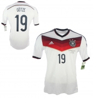 Adidas Germany Jersey 19 Mario Götze World Cup WC 2014 home White men's M/L/XL