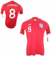 Umbro england jersey 8 Frank Lampard World Cup 2010 away red men's M/L